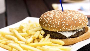 Hamburgers et empanadas