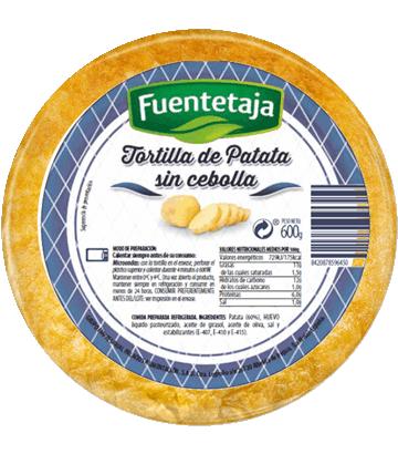 Omelette fraîche de pomme de terre sans oignon, moyenne