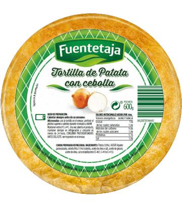 Omelette fraîche de pomme de terre à l'oignon, moyenne.