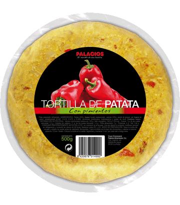 Omelette de pomme de terre aux poivrons, moyenne.