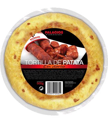 Omelette de pomme de terre au chorizo, moyenne.