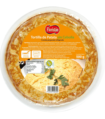 Omelette de pomme de terre sans oignon, moyenne