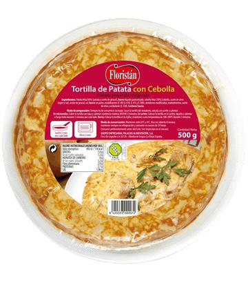 Omelette de pomme de terre à l'oignon, moyenne.