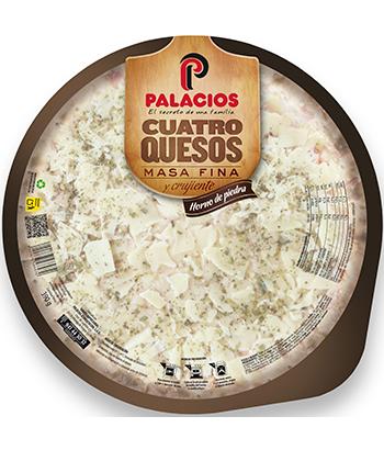 Pizza Masa Fina quatre fromages