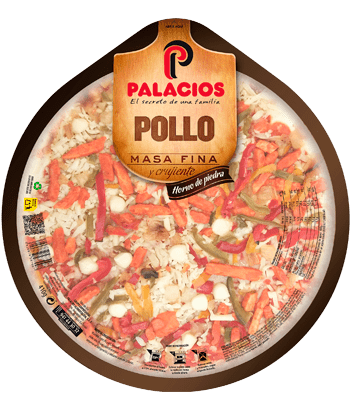 Pizza Masa Fina Poulet