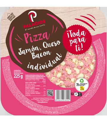 Pizza Mini Micro Jambon, bacon et fromage