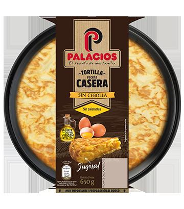 Tortilla maison Palacios sans oignons 650gr